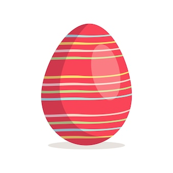 Happy easter egg icon christian holiday symbol with different textures