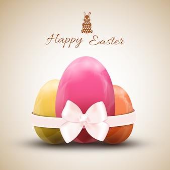 Illustrazione stabilita di vettore dell'uovo di pasqua felice