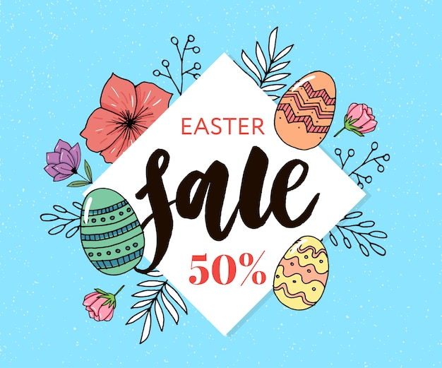 Happy easter eggs composition sale