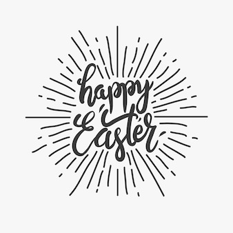 Happy easter eggs type illustration