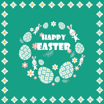 Happy easter. flat and cartoon style. vector illustration.deisgn element