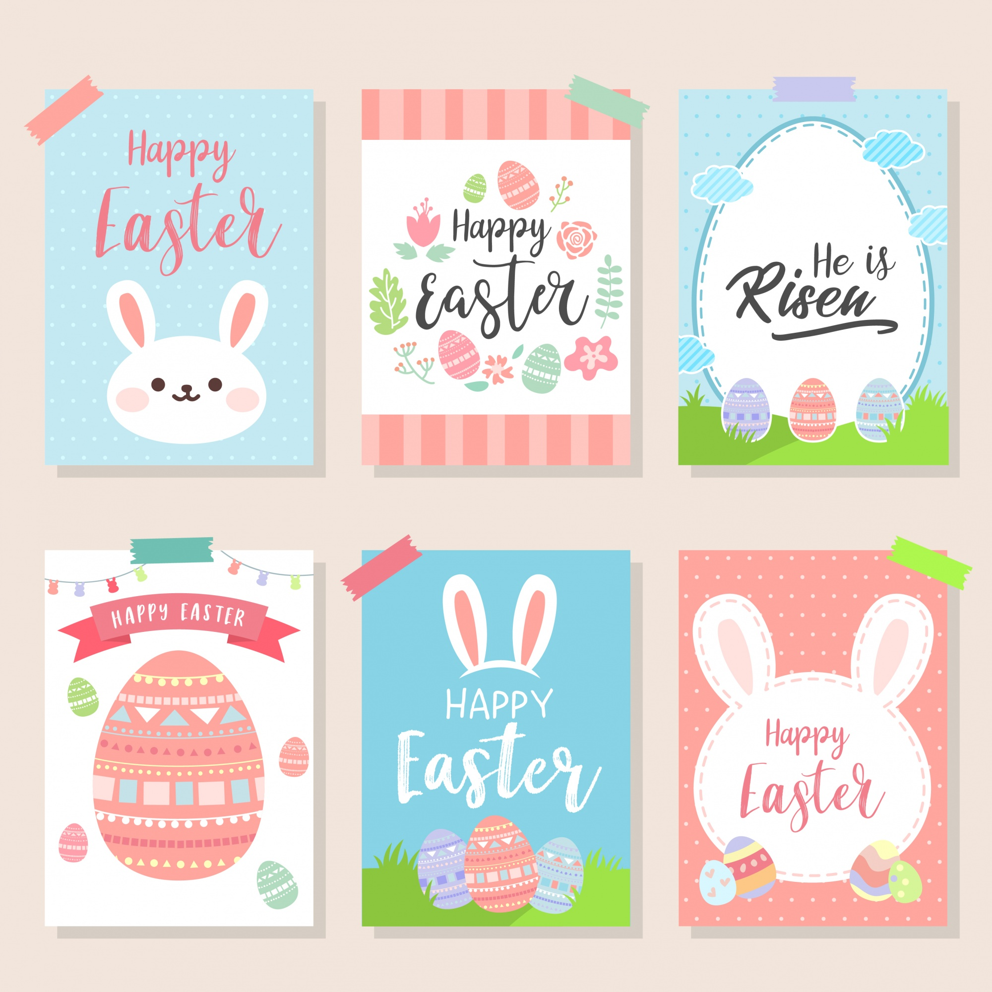 Happy Easter Greeting Card Collection