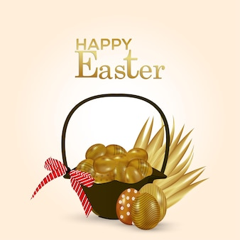Happy easter greeting card and