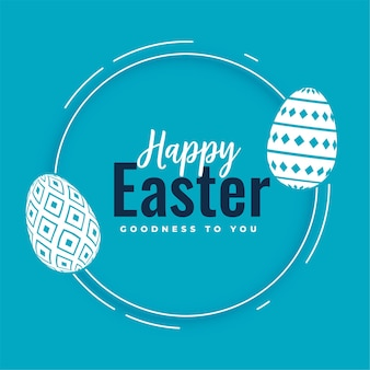 Happy easter greeting with eggs