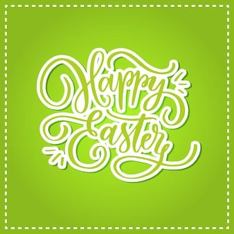 Happy easter hand drawn lettering card