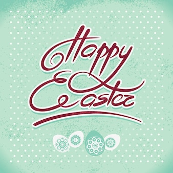Happy easter, hand lettering. handmade calligraphy