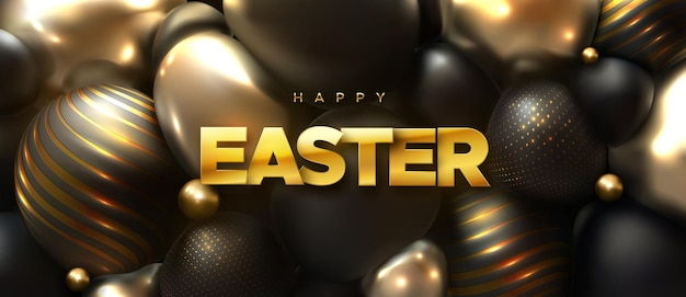 Happy easter holiday banner