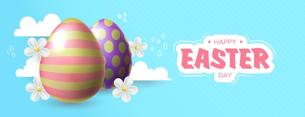Счастливой пасхи иллюстрация с красочным расписным яйцом