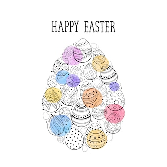 Happy easter illustration