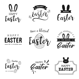 Happy Easter Lettering, Logo Collection