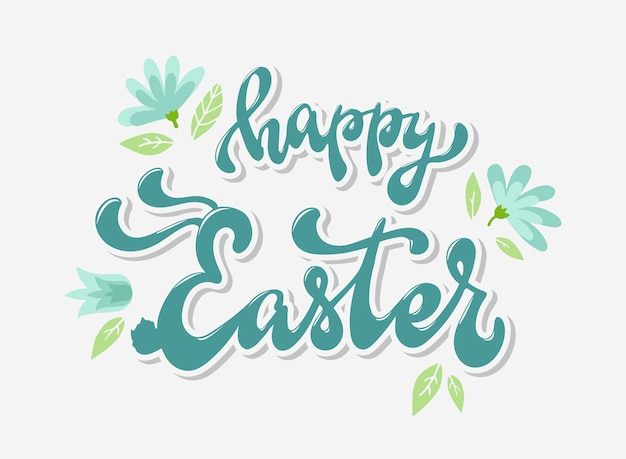 Happy easter lettering quote