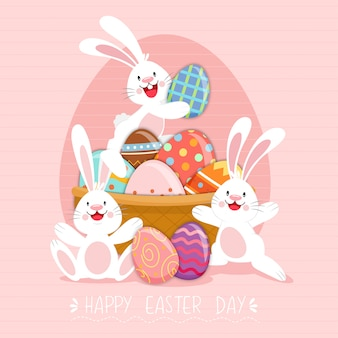Happy easter poster, invitation card, background. the season of joy.