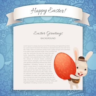 Happy easter poster with banny