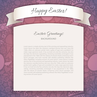 Happy easter poster with copy space
