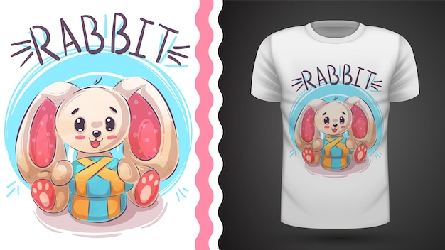 Happy easter rabbit - idea for print t-shirt