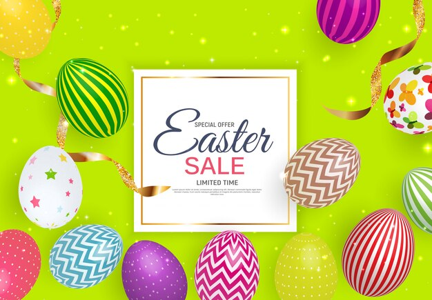 Happy easter sale background