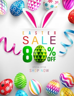 Happy easter sale banner