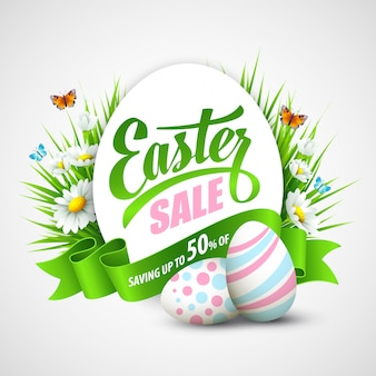 Happy easter sale brochure