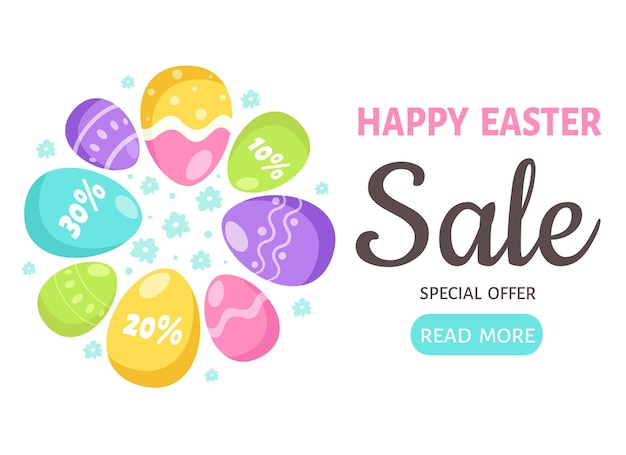 Happy easter sale. easter eggs