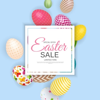 Happy easter sale poster