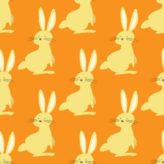 Happy easter seamless pattern.