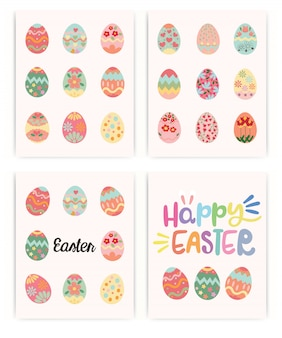 Happy easter. set of easter. spring holiday.
