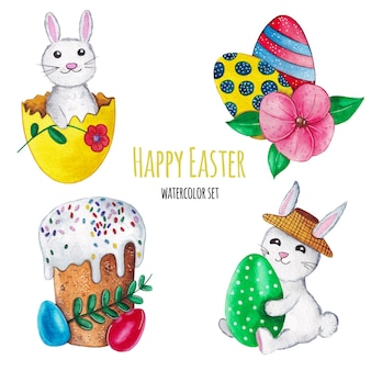 Happy easter set