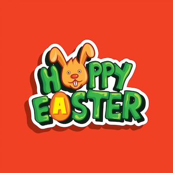 Happy easter sticker