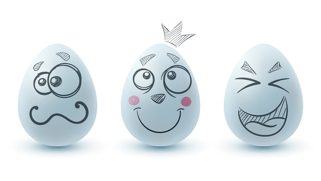 Happy easter. three eggs