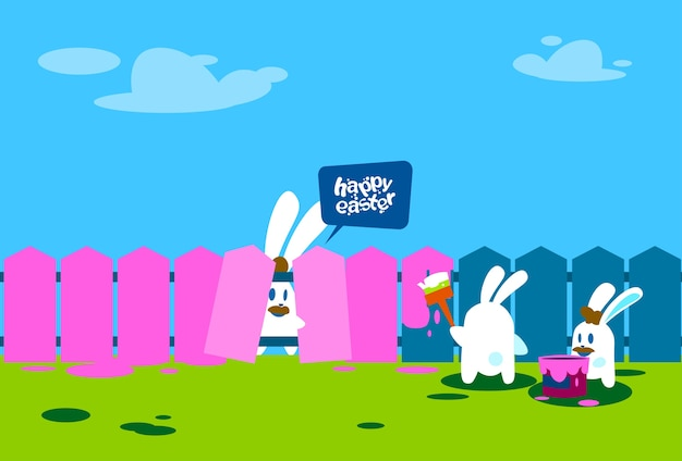 Happy easter wall holiday banner