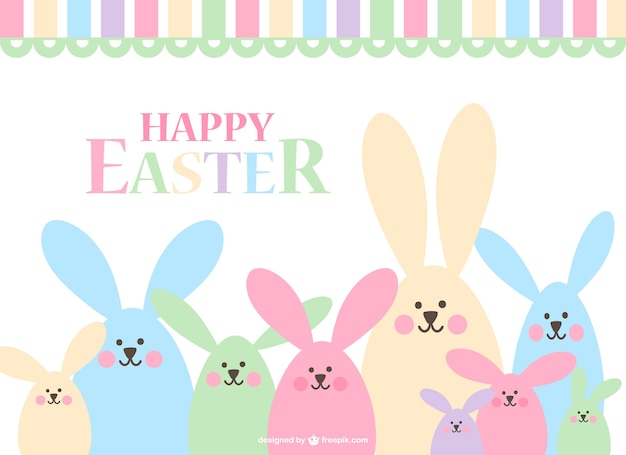 Happy easters bunnies design