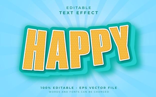 Счастливый редактируемый текстовый эффект