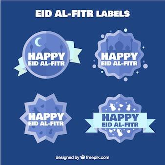 Наклейки happy eid al retr