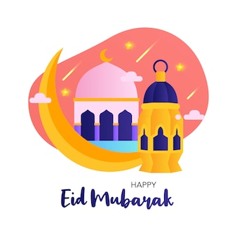 Happy eid mubarak simple design