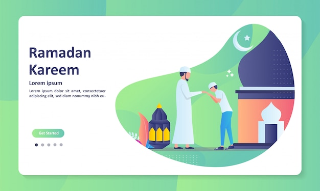 Happy eid mubarak template banner