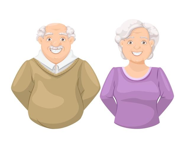 행복 한 노인 조부모