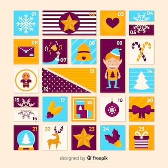 Happy elf advent calendar