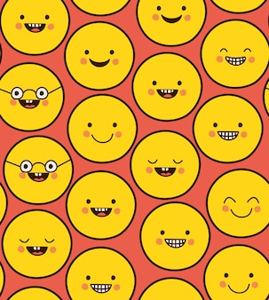 幸せな絵文字パターン
