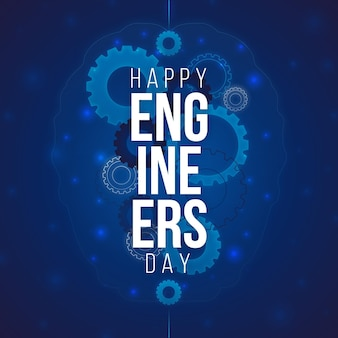 Happy engineers day with gears