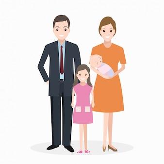 Happy family character