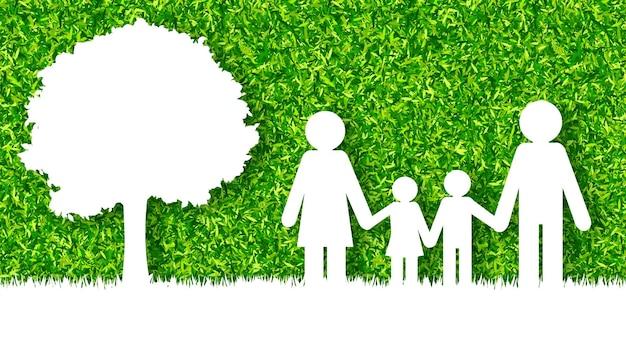 幸せな家族の概念ベクトルの背景