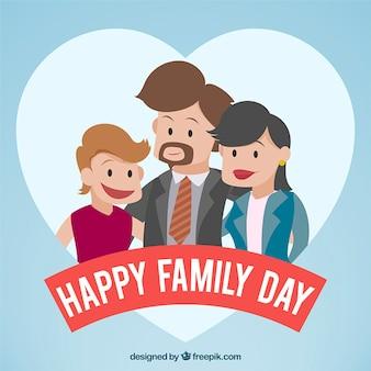 幸せな家族の日の背景