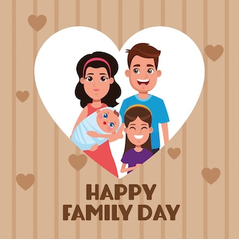 Happy family day card