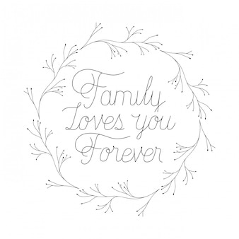 Happy family day label isolated icon