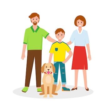 Happy family portrait father