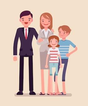 행복 한 가족의 초상