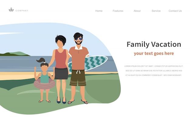 Happy family summer vacations