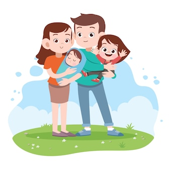 Happy family vector illustration
