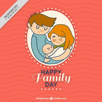 Happy family with a baby