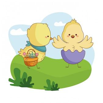 Happy farm animals cartoon